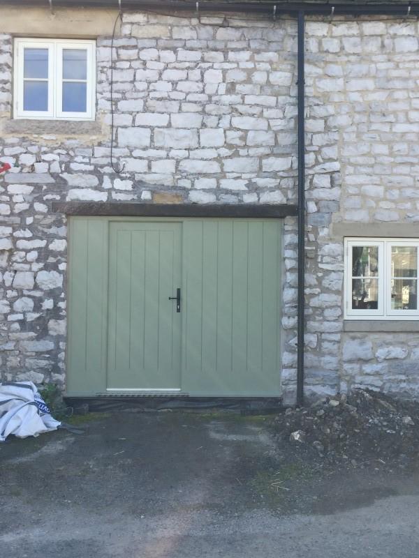 New Hardwood Painted Front Door Installed In Taddington Derbyshire